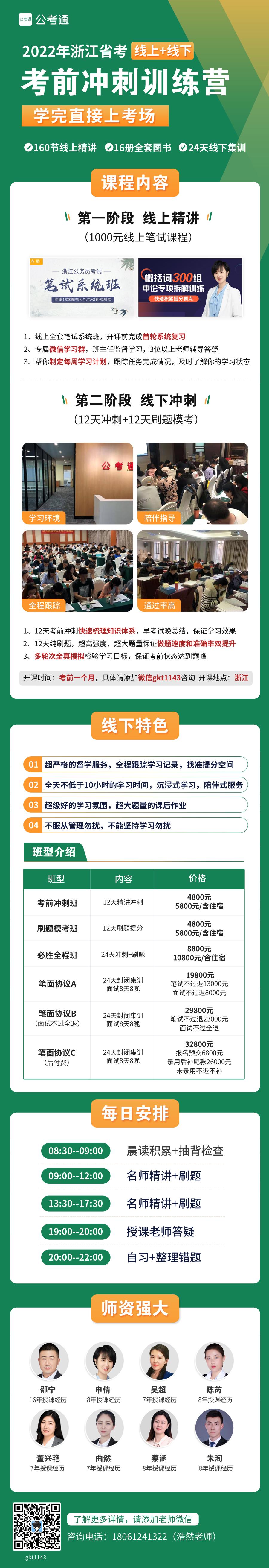 2022浙江考前冲刺训练营详情